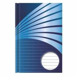 Schrift a6 formaat blauwe harde kaft