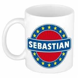 Sebastian naam koffie mok / beker 300 ml