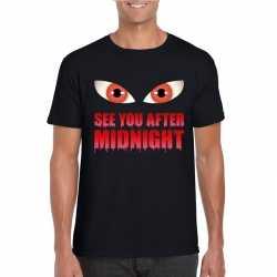 See you after midnight halloween vampier t shirt zwart heren
