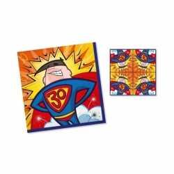 Servetten 30 jaar superman