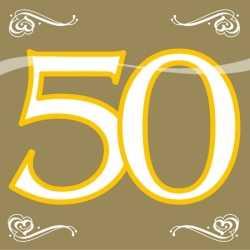 Servetten 50 jaar goud