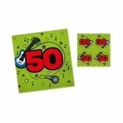 Servetten 50 jaar groen