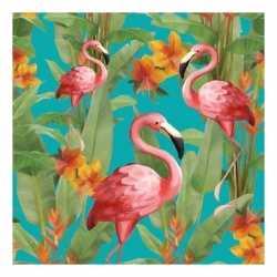 Servetten flamingo's 3 laags 20 stuks