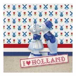 Servetten ik hou van holland thema 3 laags 20 stuks