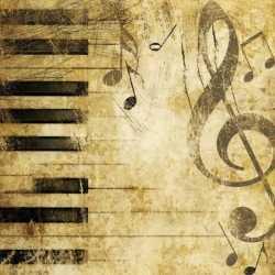 Servetten piano muzieknoten 20 stuks
