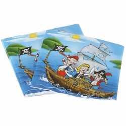 Servetten piratenfeestje 20 stuks
