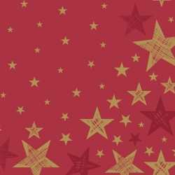 Servetten shining star red