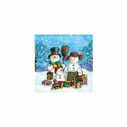 Servetten sneeuwpoppen