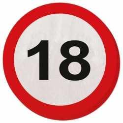 Servetten verkeersborden 18 jaar