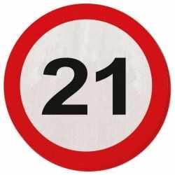 Servetten verkeersborden 21 jaar