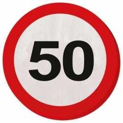 Servetten verkeersborden 50 jaar