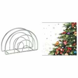 Servettenhouder kerst servetten kerstboom
