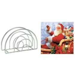 Servettenhouder kerst servetten kerstman