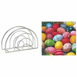 Servettenhouder pasen servetten gekleurde eieren