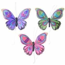 Set gekleurde vlinder hangdecoratie 9