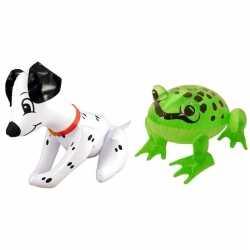 Set opblaasbare hond kikker
