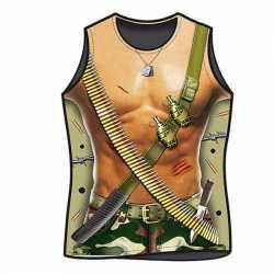 Sexy heren t-shirt leger