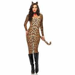 Sexy luipaard catsuit oortjes