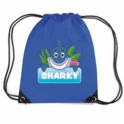 Sharky de haai rugtas / gymtas blauw kinderen