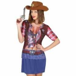Sheriff cowboy verkleed shirt dames