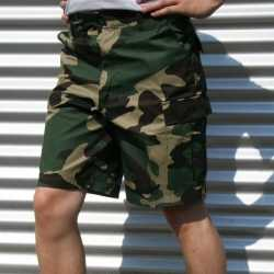 Shorts camouflage print