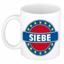 Siebe naam koffie mok / beker 300 ml
