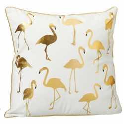 Sierkussen flamingo wit allover flamingoprint 45 bij 45
