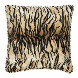 Sierkussen fluweel tijgerprint 47 bij 47
