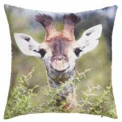 Sierkussen print van giraffe 30 bij 30
