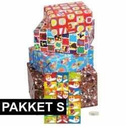Sint cadeaupapier pakket s etiketten