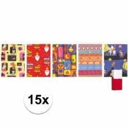 Sinterklaas 15 rollen sinterklaas kadopapier 200 bij 70