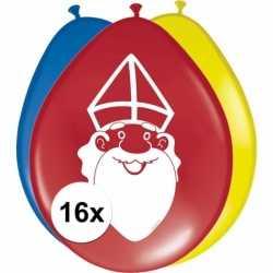 Sinterklaas 16x sinterklaas ballonnen 27