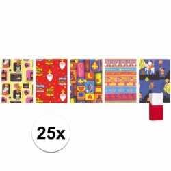 Sinterklaas 25 rollen sinterklaas kadopapier 200 bij 70