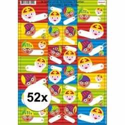 Sinterklaas cadeau stickers 52 stuks