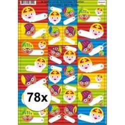 Sinterklaas cadeau stickers 78 stuks