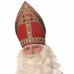 Sinterklaas luxe sinterklaas koker mijter katoenfluweel