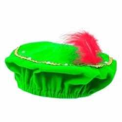 Sinterklaas pieten baret groen led verlichting kinderen