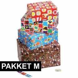 Sinterklaas sint cadeaupapier pakket m etiketten