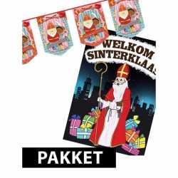 Sinterklaas vlaggenlijn sint piet deurposter a1