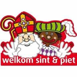 Sinterklaas Welkom Sint Piet deurbord