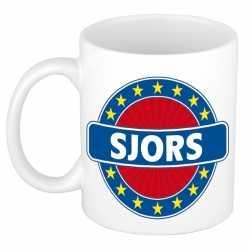 Sjors naam koffie mok / beker 300 ml
