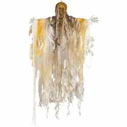 Skelet/heks hangdecoratie pop wit 140 licht halloween ver
