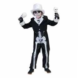Skelet kostuum jongens