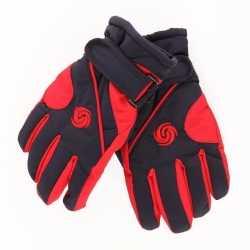 Ski handschoenen jongens rood/navy