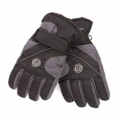 Ski handschoenen jongens zwart/donkergrijs