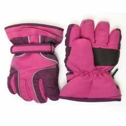 Ski handschoenen meisjes waterproof paars