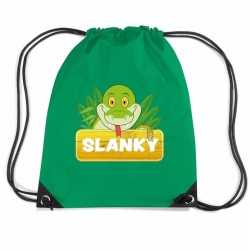 Slanky de slang rugtas / gymtas groen kinderen
