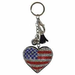 Sleutelhanger amerikaanse/usa vlag 15
