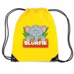 Slurfie de olifant rugtas / gymtas geel kinderen