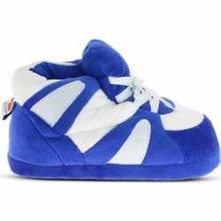 Sneakers sloffen/pantoffels blauw/wit dames